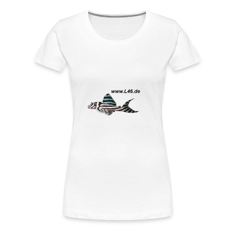 Girly-T Weiß Logo zweiseitig groß - Frauen Premium T-Shirt
