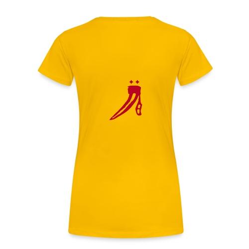 Name vorne - großes Logo hinten - Frauen Premium T-Shirt