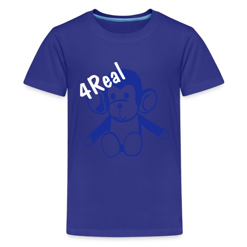 Kids Monkey 4Real - Teenage Premium T-Shirt