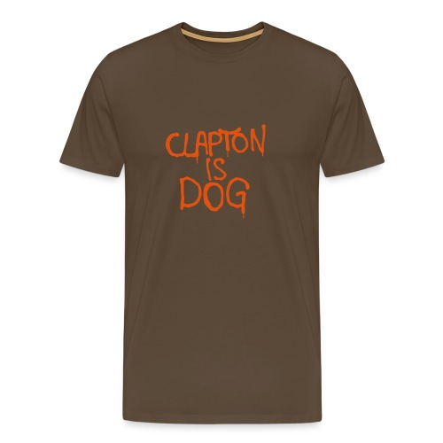 Clapton is dog - Men's Premium T-Shirt