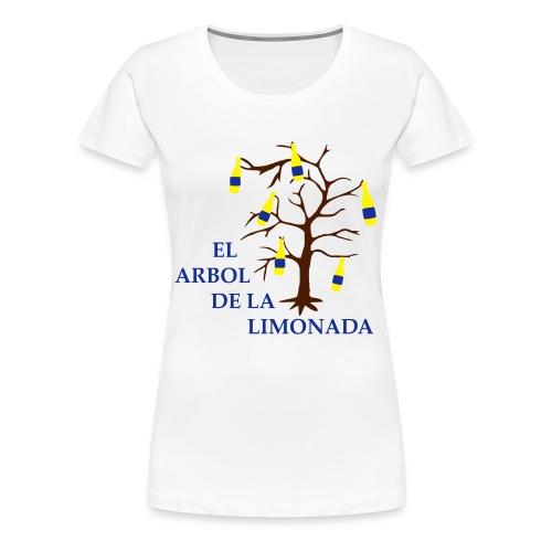 el arbol de la limonada white-navi-brown - girlie - Frauen Premium T-Shirt