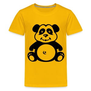 Cute For Kids - Panda (Yellow) - Teenage Premium T-Shirt