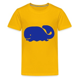 Cute For Kids - Blue Whale (Yellow) - Teenage Premium T-Shirt
