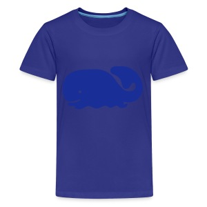 Cute For Kids - Blue Whale (Blue) - Teenage Premium T-Shirt