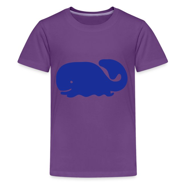 Cute For Kids - Blue Whale (Blue)