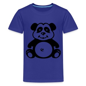 Cute For Kids - Panda (Blue) - Teenage Premium T-Shirt