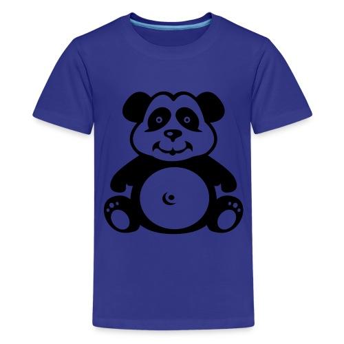 Cute For Kids - Panda (Blue) - Teenage Premium T-Shirt