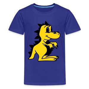 Cute For Kids - Golden Dragon (Blue) - Teenage Premium T-Shirt