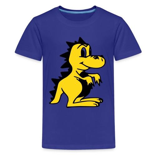 Cute For Kids - Golden Dragon (Blue) - Teenage Premium T-Shirt