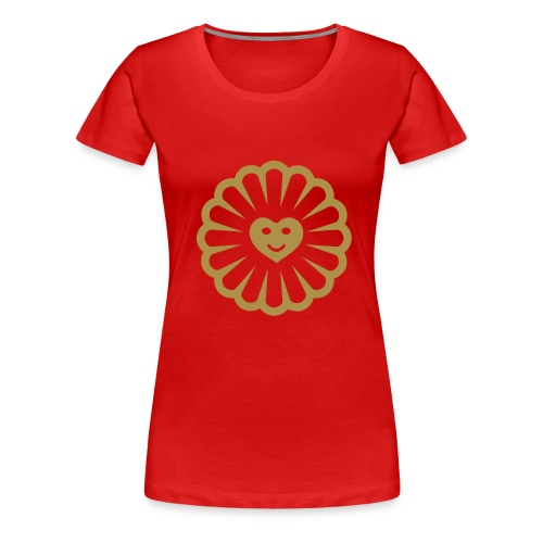 Gold Glitter Sun Heart (Various Colours) - Women's Premium T-Shirt