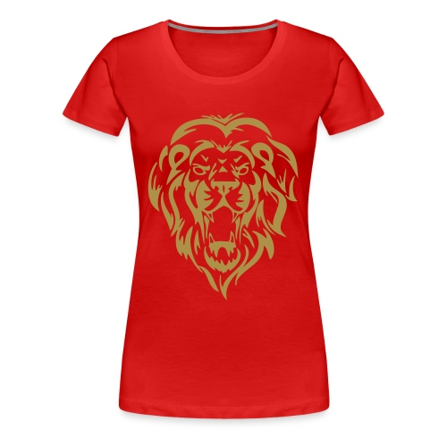 Gold Glitter Lion (Various Colours) - Women's Premium T-Shirt