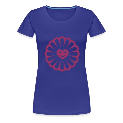 Red Glitter Sun Heart (Various Colours) - Women's Premium T-Shirt