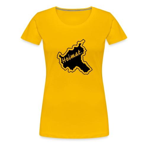 Girlieshirt Heimat Land Hamburg - Frauen Premium T-Shirt