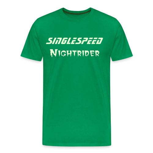 glow in the dark nightrider - Mannen Premium T-shirt