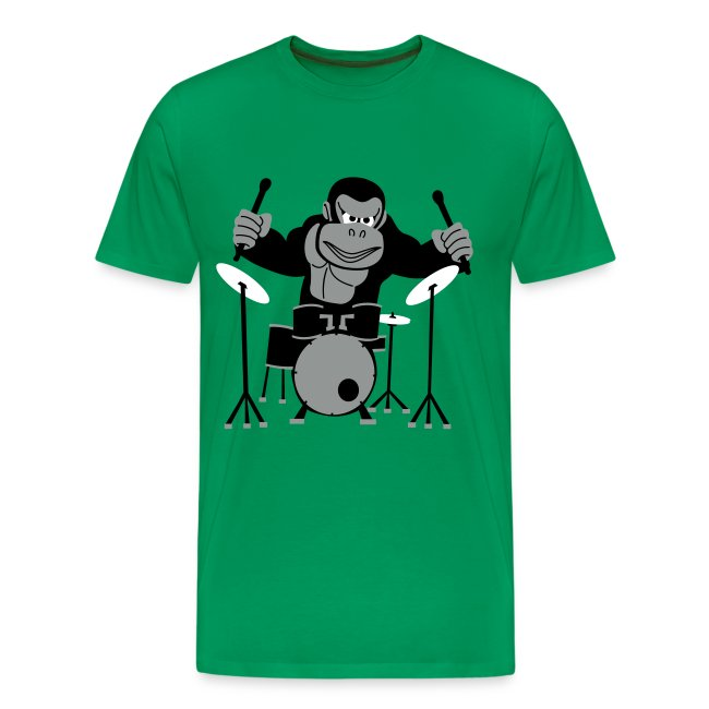 Drumming Gorilla (Green)