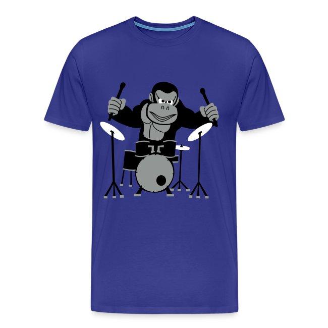 Drumming Gorilla (Royal Blue)