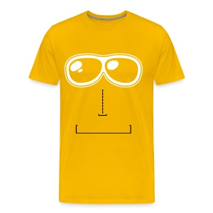 Face yellow t-shirt - Men's Premium T-Shirt