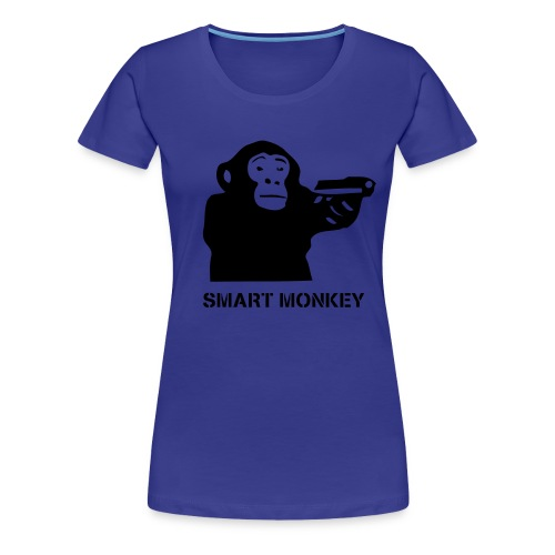 Clever Monkey.Blue.Women - Women's Premium T-Shirt