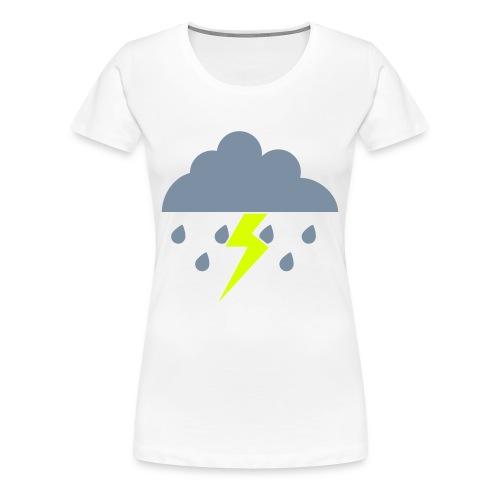 Womens cloud and lightening - Women's Premium T-Shirt