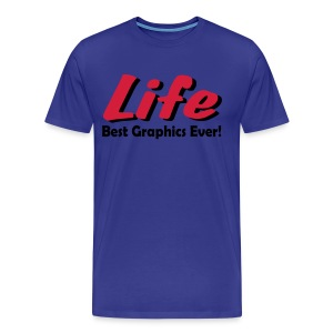 Life blue t-shirt - Men's Premium T-Shirt