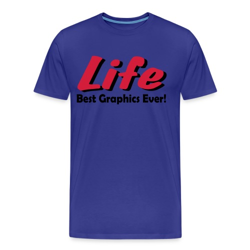 Life blue t-shirt - Men's Premium T-Shirt