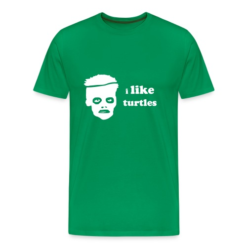 Classic Zombie I Like Turtles tee - Men's Premium T-Shirt