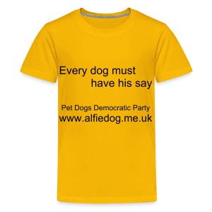 PDDP slogan - Teenage Premium T-Shirt