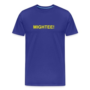 Mightee Blue/Yellow - Men's Premium T-Shirt
