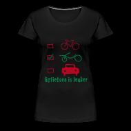 T-shirts ~ Vrouwen Premium T-shirt ~ LiL girlie/flock