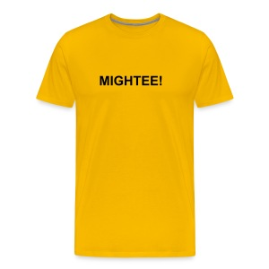 Mightee Amber/Black - Men's Premium T-Shirt