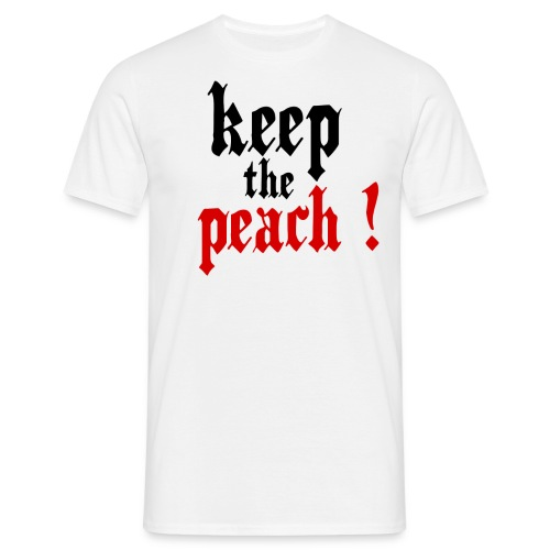 T-shirt Keep the peach - T-shirt Homme