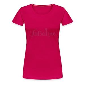 Frauen Premium T-Shirt - Achtung - die Schrift ist sehr hell, nur sehr dezent zu lesen.