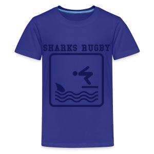 MY DADDY KIDS SHARK TEE - Teenage Premium T-Shirt