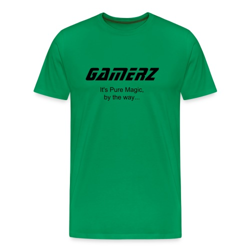 Official GAMERZ Tee - Sci Fi Green! Mens - Men's Premium T-Shirt