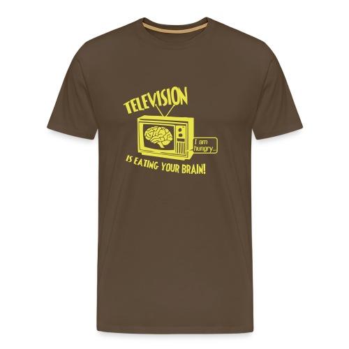 TSn Television front brown - Männer Premium T-Shirt