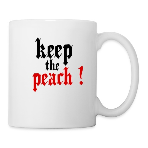 Mug Keep the peach ! - Mug blanc