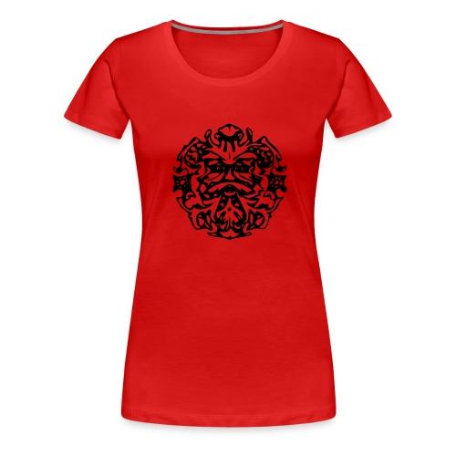 Green Man - Frauen Premium T-Shirt