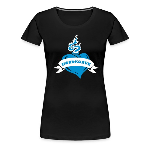 Burning Heart Girlie  - Frauen Premium T-Shirt