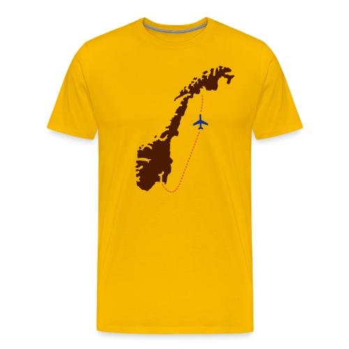 Send mæ hjem! (gutt) - Premium T-skjorte for menn