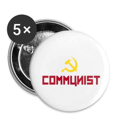 Communist Badge - Buttons small 1''/25 mm (5-pack)