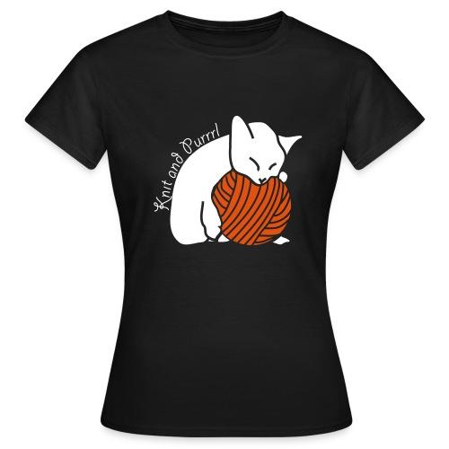 Women's T-Shirt - katzen,stricken,wolle
