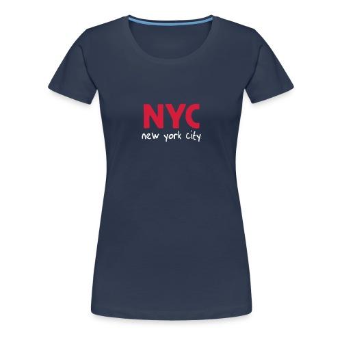 Girlie-Shirt NYC navy - Frauen Premium T-Shirt