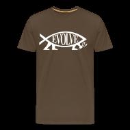 T-Shirts ~ Männer Premium T-Shirt ~ Evolve Shirt mit weissem Fisch. Viele Farben!