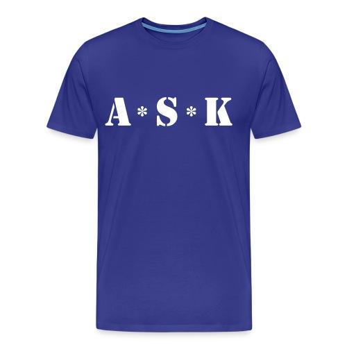 ASK (blauw) - Mannen Premium T-shirt