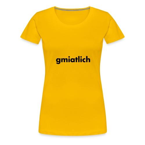 gmiatlich Schwarz - verschiedene Farben - Frauen Premium T-Shirt