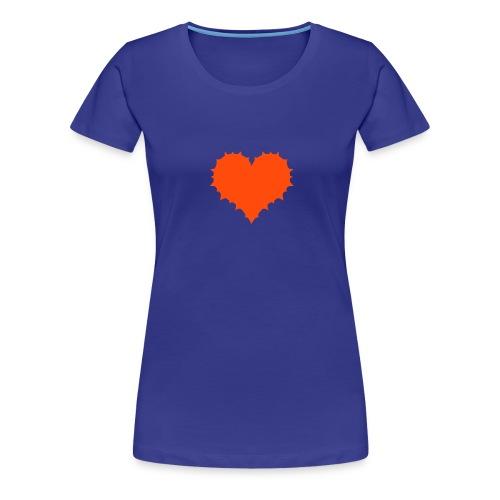 Herz mit Stacheln auf Girlie-Shirt - Frauen Premium T-Shirt