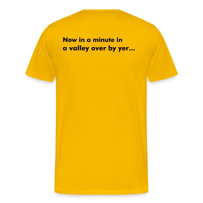Taff Wars YELLOW comfort t-shirt with text on back