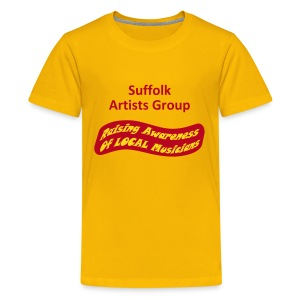 Suffolk Artists Group (Yellow) - Teenage Premium T-Shirt