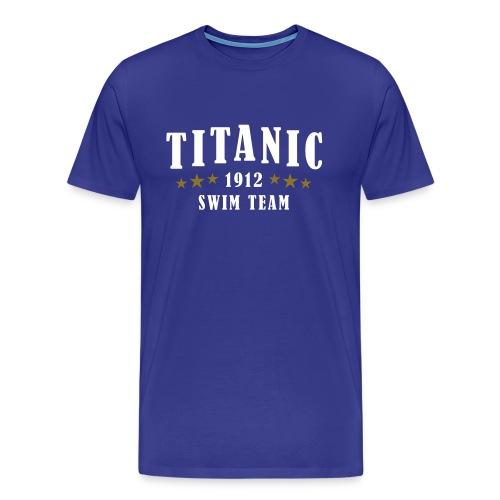 Titanic Swim Team Blue - Men's Premium T-Shirt