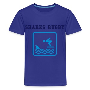 MY UNCLE KIDS SHARK TEE - Teenage Premium T-Shirt